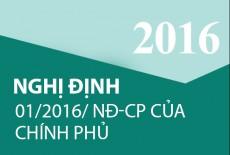 Nghị định 01/2016/NĐ-CP của Chính phủ