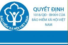 Quyết định 1018/QĐ-BHXH của Bảo hiểm xã hội Việt Nam (bản gốc)