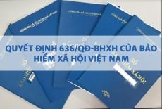 Quyết định 636/QĐ-BHXH của Bảo hiểm xã hội Việt Nam